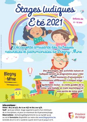 Stages été 2021 Province de Liège