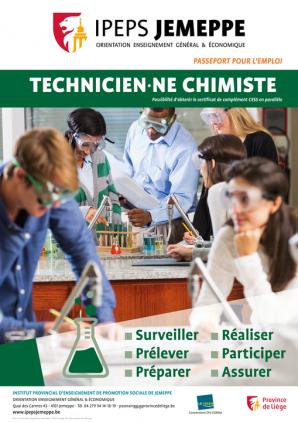 Devenez technicien·ne chimiste!