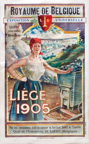 Promotion Poster from the Universal Exhibition in Liège of 1905