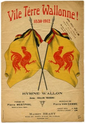 Couverture de la partition de 'Vîle térre wallonne' (1912)