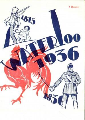 Couverture du programme du pèlerinage wallon à Waterloo (1936)