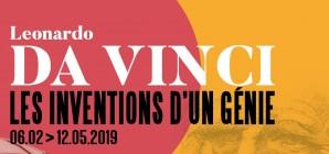 """Expo : """"Leonardo da Vinci - Les inventions d'un génie"""" - Du 06/02 au 12/05/2019"""
