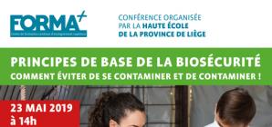 """Conférence: """"Principes de base de la biosécurité: comment éviter de se contaminer et de contaminer"""""""