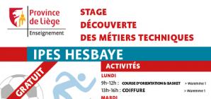 Stage d'été à l'IPES de Hesbaye du 26 au 30 août !