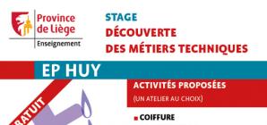 Stage d'été à l'Ecole Polytechnique de Huy du 26 au 30 août !