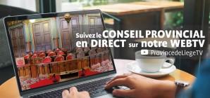 Suivez le Conseil provincial de Liège en direct ces 26, 27, 29 et 30 octobre 2020 dès 16h30!