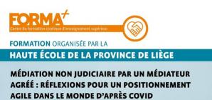 """Formation: """"Médiation non judiciaire par un médiateur agréé"""""""