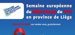 Semaine européenne du dépistage du VIH en province de Liège