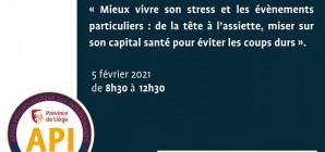 Webinaire API : mieux vivre son stress !