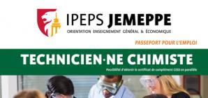 IPEPS Jemeppe: devenez technicien·ne chimiste!