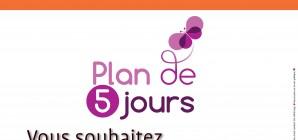 Plan de 5 jours - Septembre 2021