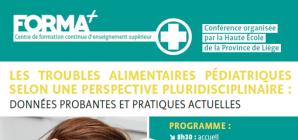 """Conférence: """"Les troubles alimentaires pédiatriques selon une perspective pluridisciplinaire"""""""