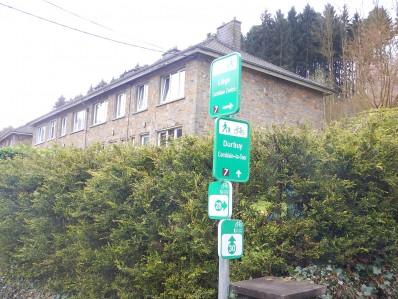 Panneau point-nœud Liège - Durbuy