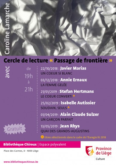 Cercle de lecture « Passage de frontière », avec Caroline Lamarche