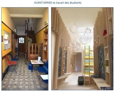 Avant/Après le travail des étudiants