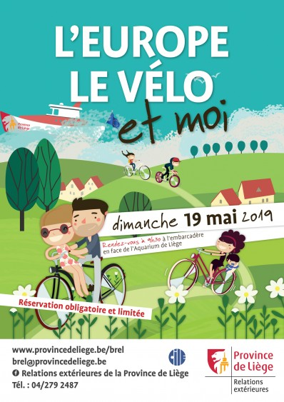 L'Europe, le vélo et moi! Randonnée cycliste Liège-Maastricht-Liège: rendez-vous le 19 mai à Liège