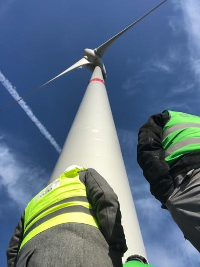Conseil provincial de Liège: au cœur d'un parc éolien pour une journée de travail