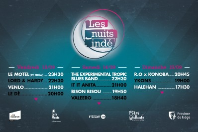 Les Nuits indé - 13-14-15 septembre 2019 Liège