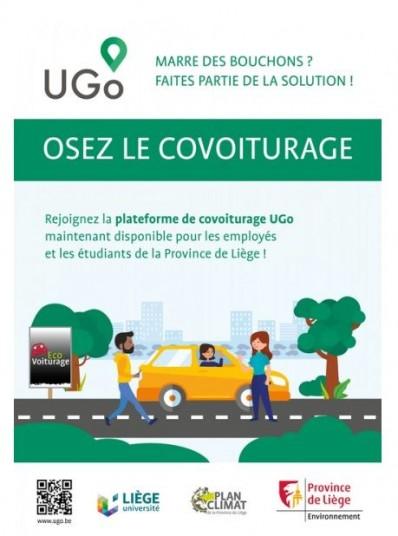 La Province de Liège incite chacun à davantage pratiquer le covoiturage: avec la plateforme UGo, mais aussi grâce aux 830 places créées dans 16 parkings d'Ecovoiturage