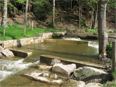 Passe à poissons réalisée par le Service des Cours d'eau