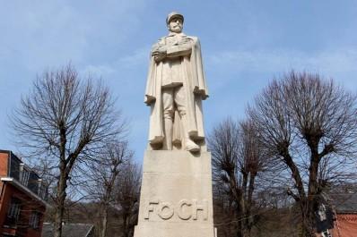 La statue du Maréchal Foch à Spa
