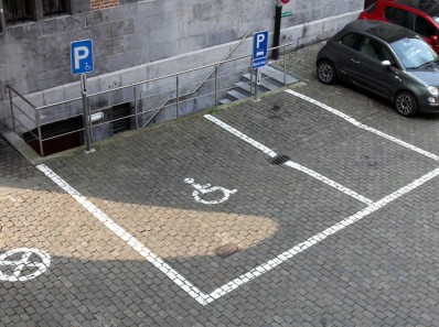 the disabled parking space