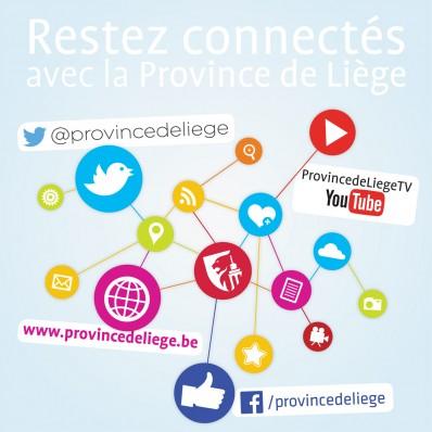 Restez connectés avec la Province de Liège