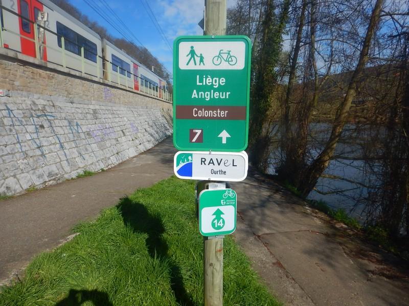 Panneau point-nœud Liège - Angleur