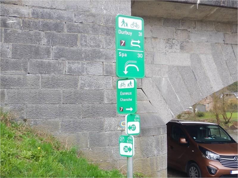 Panneaux point-nœud Durbuy - Spa - Esneux