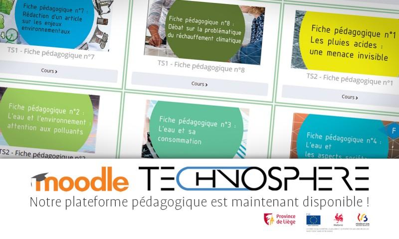 Plate-forme pédagogique Technosphère sur Moodle