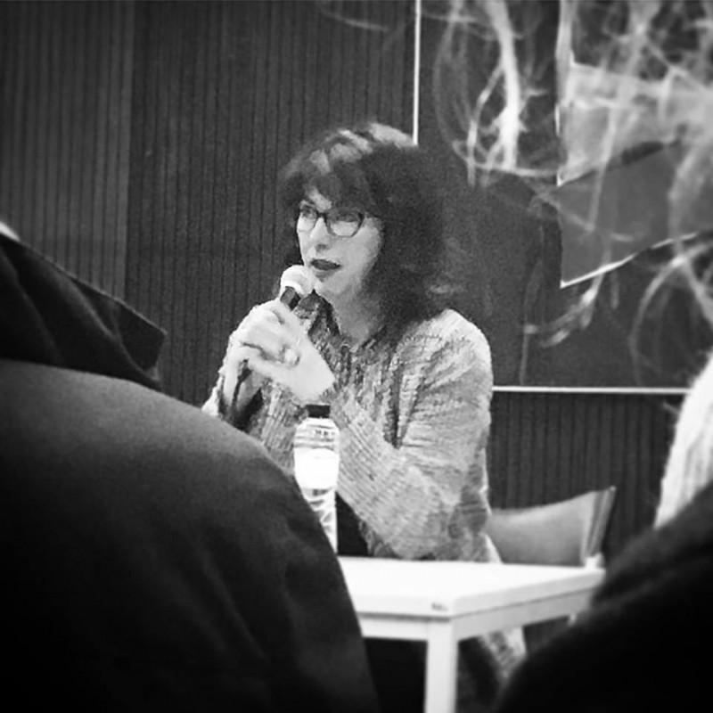 Emmanuelle Pirotte à la bibliothèque Chiroux le 7 mars dernier