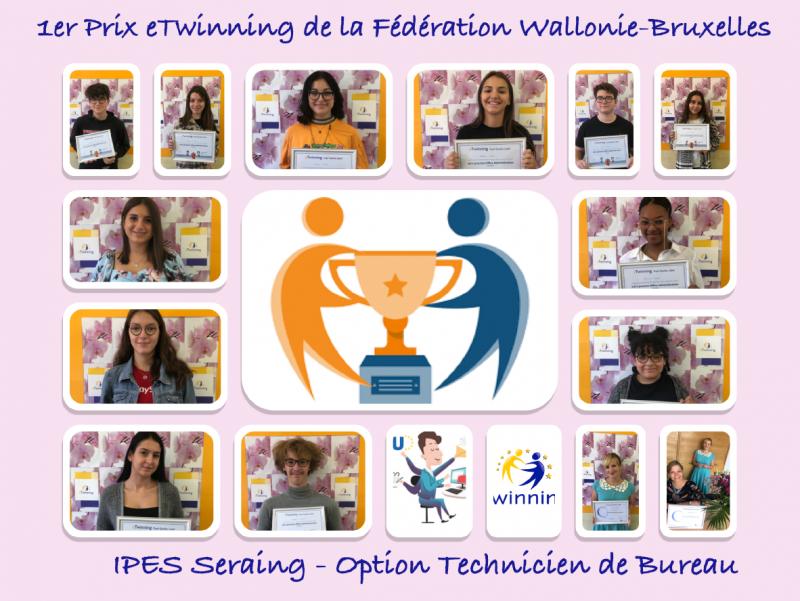 Projet eTwinning à l'IPES Seraing: un label et un prix!