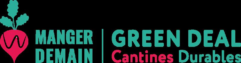 Logo - Manger demain : Cantines durables