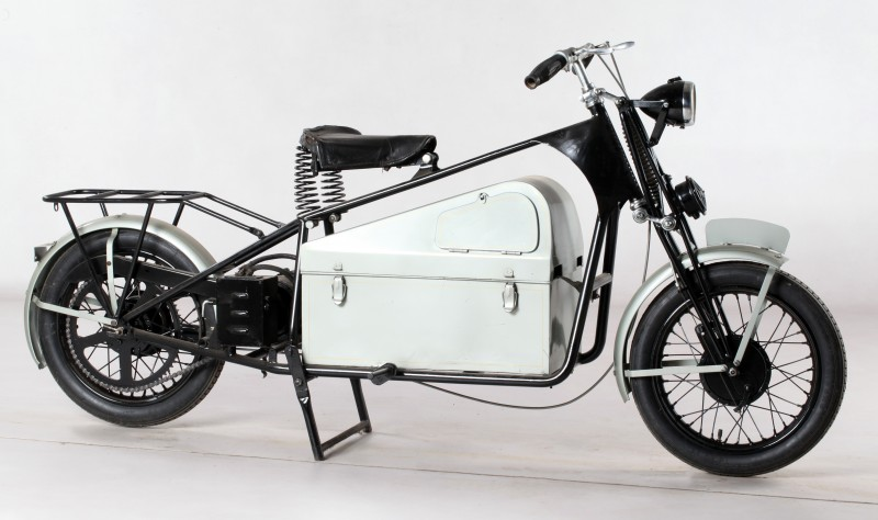Moto électrique Socovel, 1941, coll. Musée de la Vie wallonne