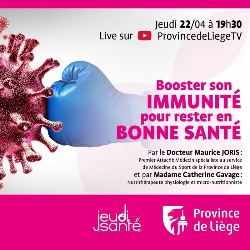 JeudiSanté en LIVE : Booster son immunité pour rester en bonne santé