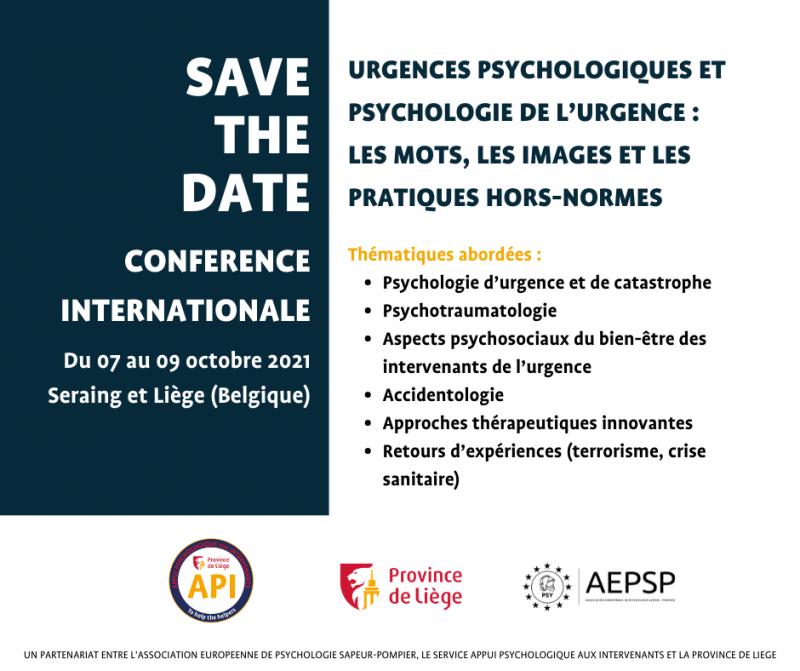Congrès international : Urgences psychologiques et psychologie de l'urgence