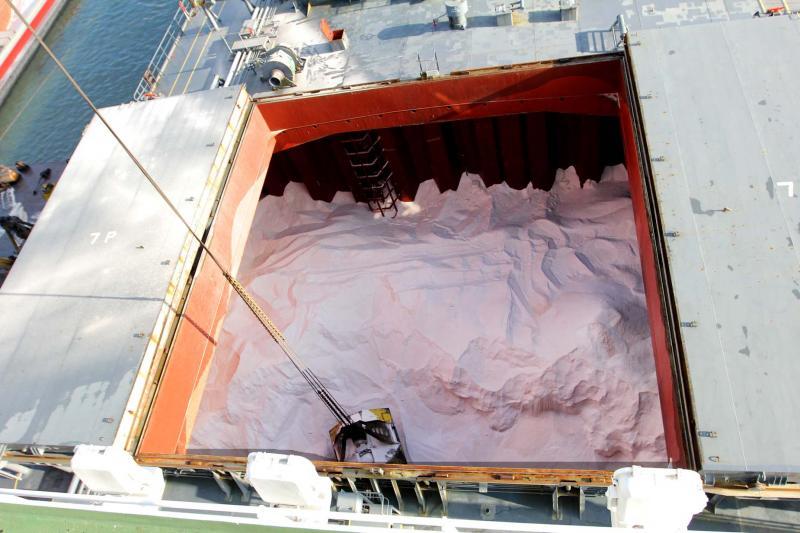 Stockage de sel à Amay.