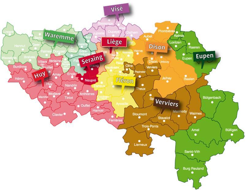 Arrondissements et districts