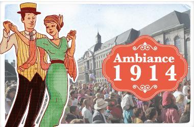 Ambiance 1914 dans le centre de Liège, 1er WE d'août