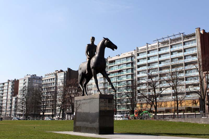 Statue équestre du Roi Albert 1er à Liège