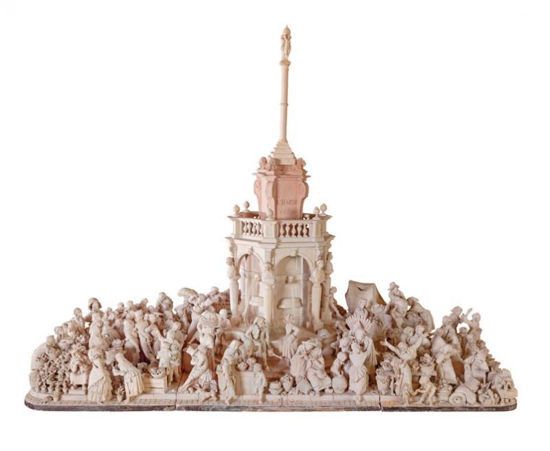 Léopold Harzé's monumental of Liege Market