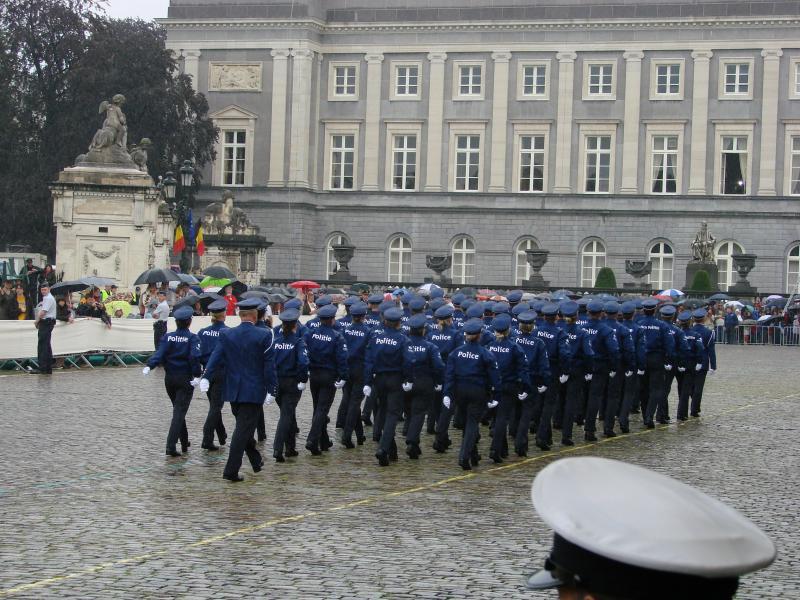 Défilé du 21 juillet, Place du Palais à Bruxelles