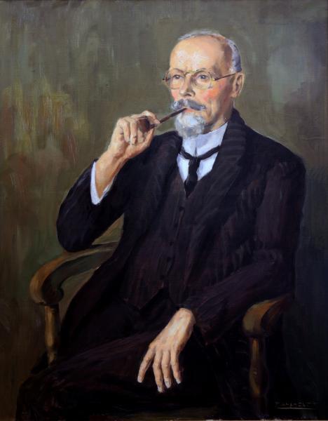Portrait de Jean Haust par Daxhelet