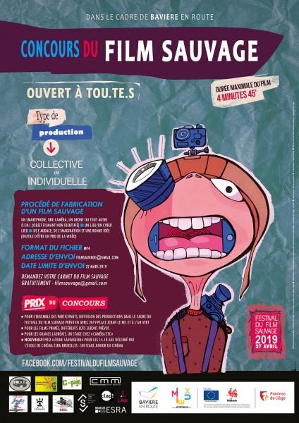 Affiche Concours du Film Sauvage 2019