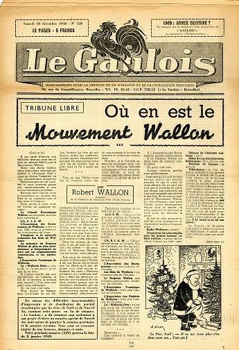 Une du Gaulois du 18 décembre 1948 © FHMW