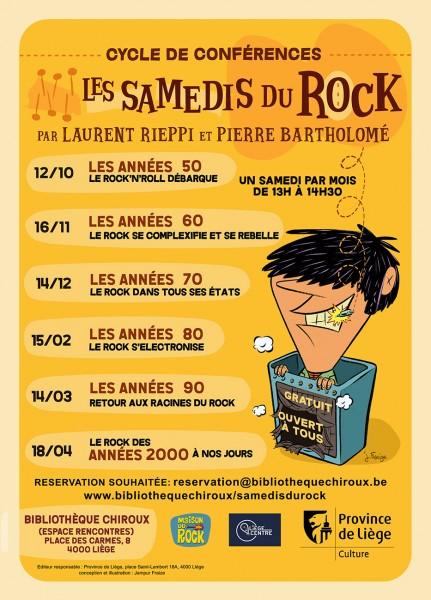 affiche des Samedis du Rock