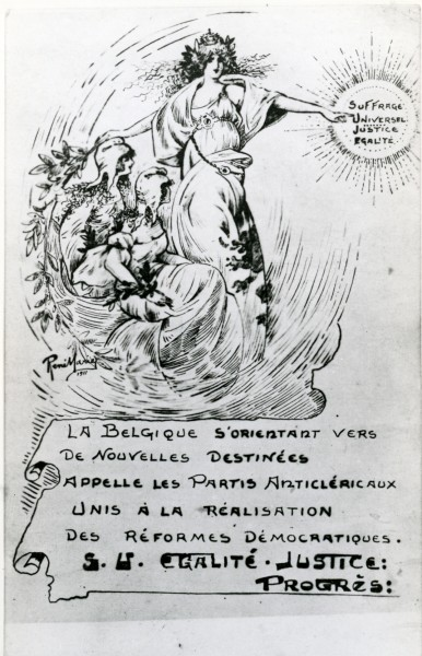 Affiche de propagande pour l'obtention du suffrage universel
