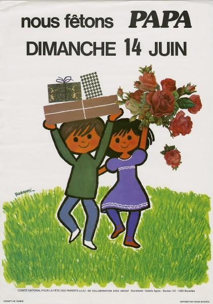 Affiche réalisée à l'occasion de la Fête des Pères, 1981