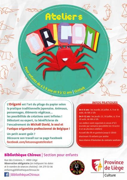 Origami bibliothèque Chiroux