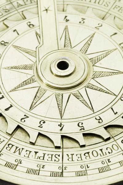 Nocturlabe en laiton, 18e siècle